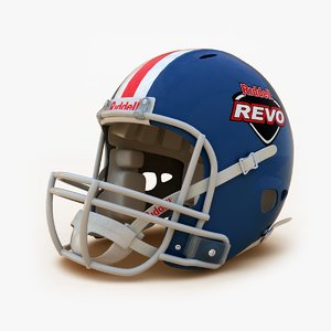 3d model riddell football helmet