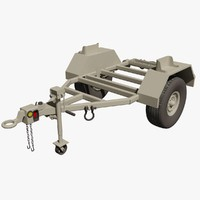 military kasel m116a2 trailer 3d model