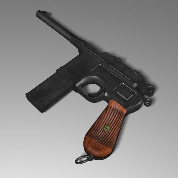 3d pistol mauser model