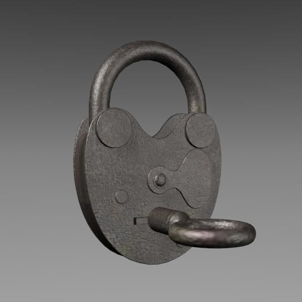 3ds max padlock