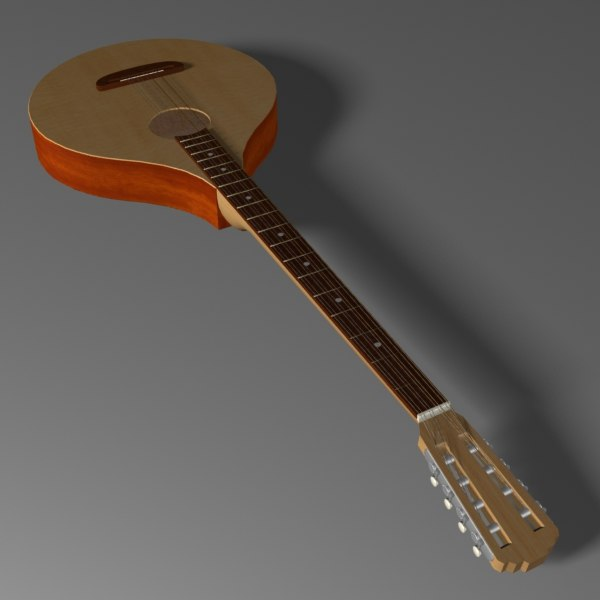 irish bouzouki 3d model