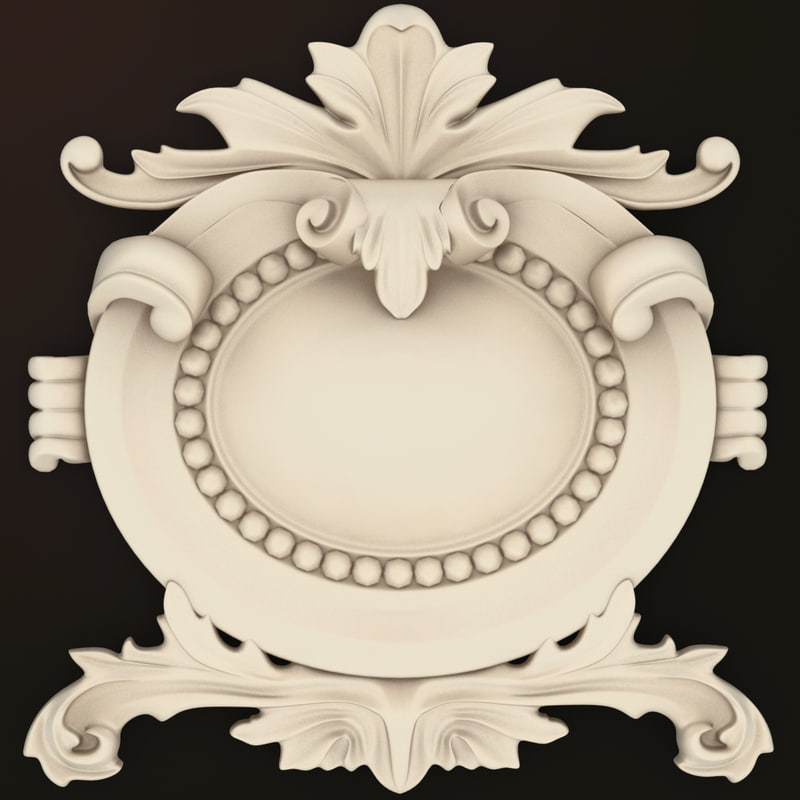 classical decoration interior wall 3d model