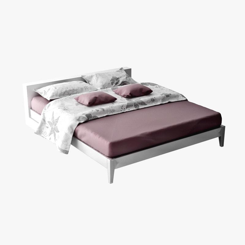 furniture bedroom 6 bed 3d model