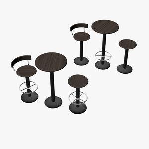 bistro tables 3d model