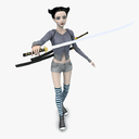 teen girl 3D models