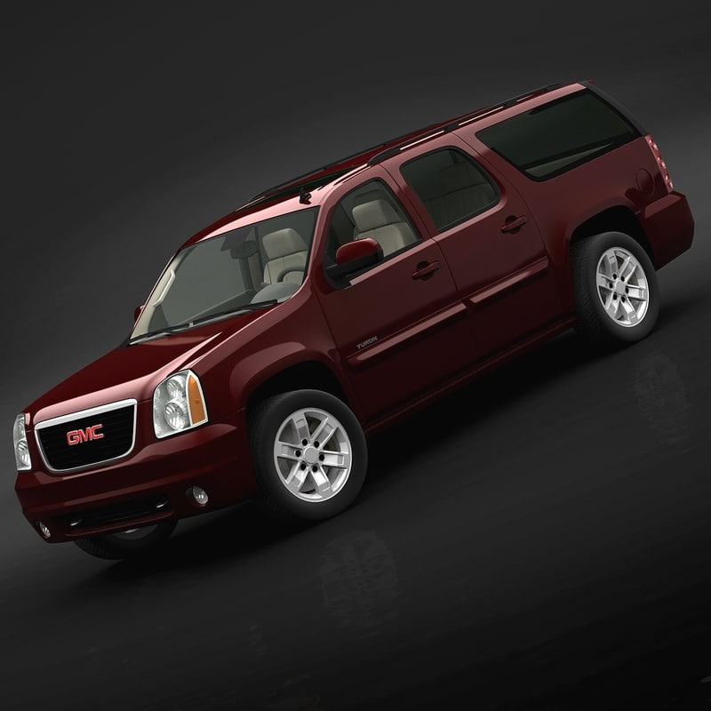 gmc yukon xl 2007 3d model