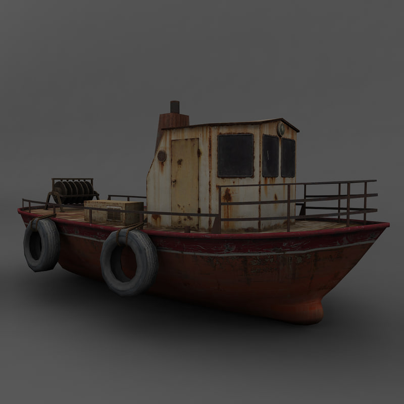 3ds max old boat