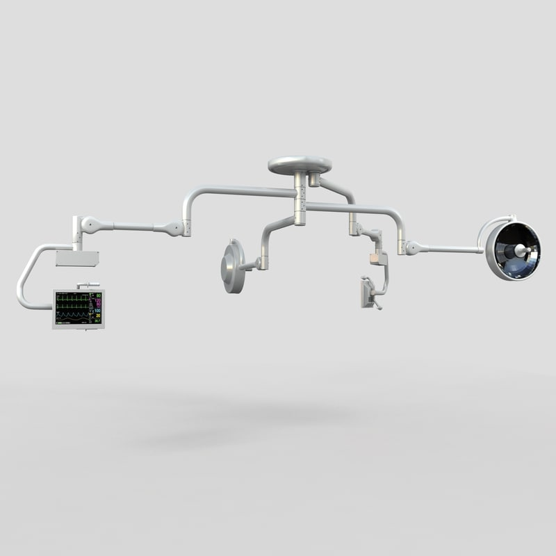surgical lights 3d model