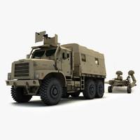 3d armored mtvr amk23 m777 model