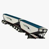 b-train trailer truck 3d model