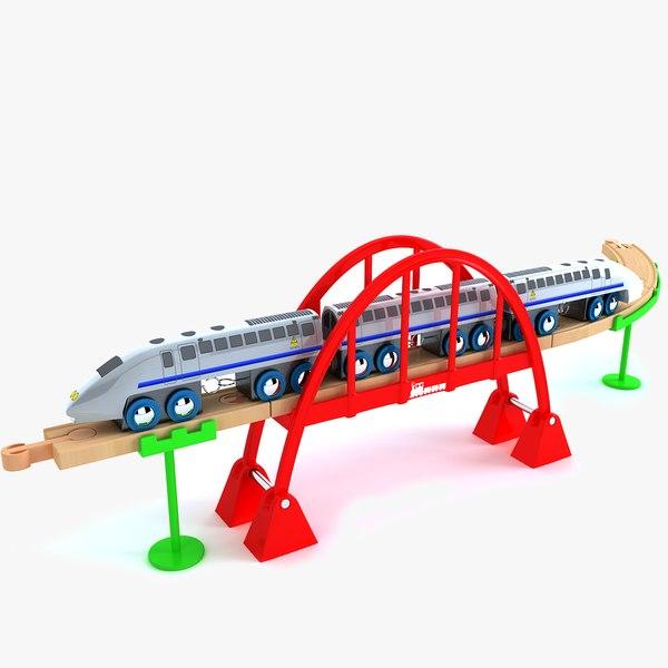 3d model kids train toy set