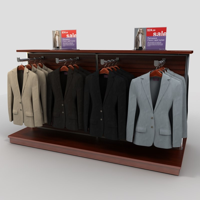 women suit rack 3d model