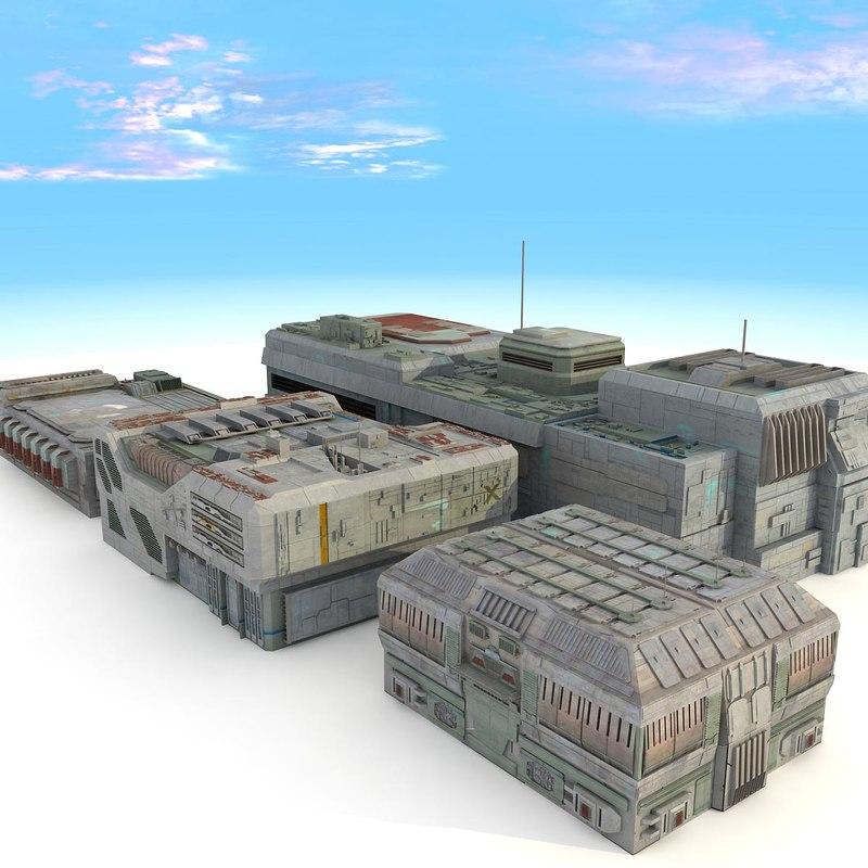 sci fi futuristic city max