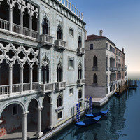 Venice Palaces - Grand Canal Scene