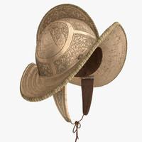 conquistador helmet comb morion 3d model