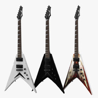 3d max dave mustaine vmnt electric guitar