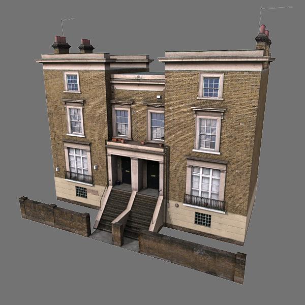 old european house 3d model