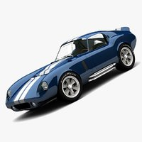 3d shelby cobra coupe model