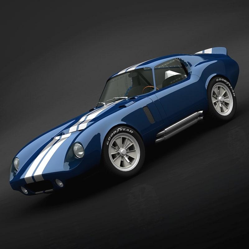 3d shelby cobra coupe model