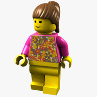 lego-girl woman 3d model
