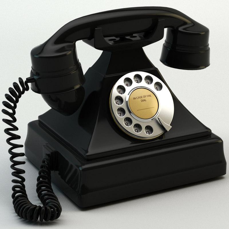 retro phone 3d 3ds