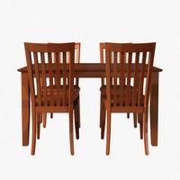 dining set 3d model