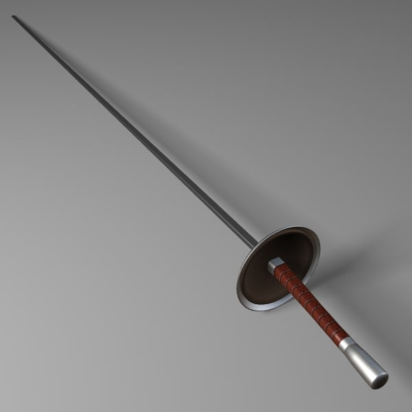 fencing foil 3d model