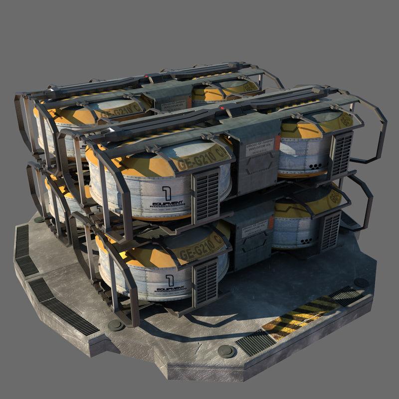 futuristic containers max