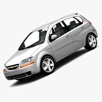 chevrolet aveo hatchback 3d model
