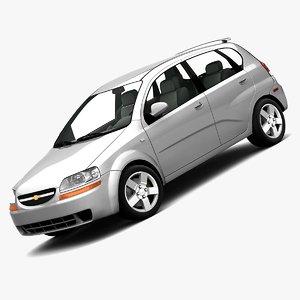 chevrolet aveo hatchback 3d model