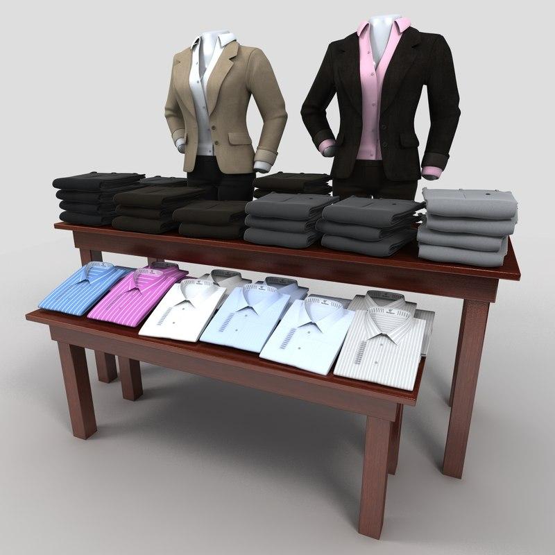womens suit pants table 3d model