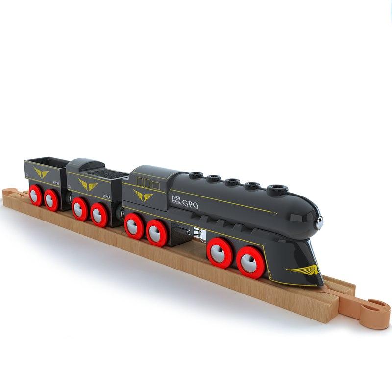 kids train toy locomotive 3d 3ds