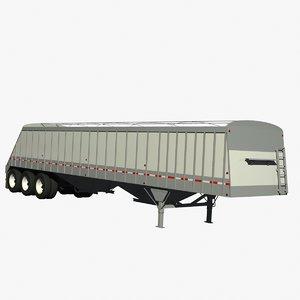 3 axle cornhusker grain 3d 3ds