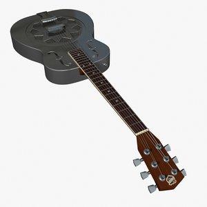 3d model resonator guitar