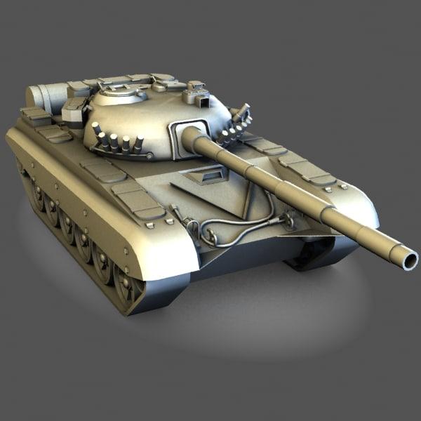 3d model of t-72 tank