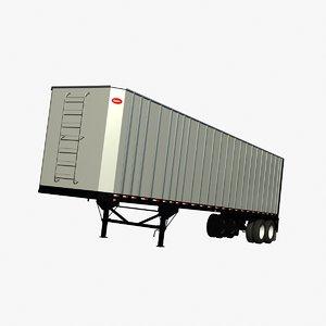 3d model chip van trailer dorsey
