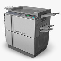 3d copier office peripheral model