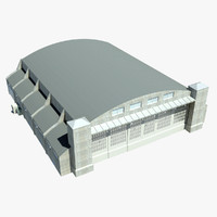 3d model aircraft hangar