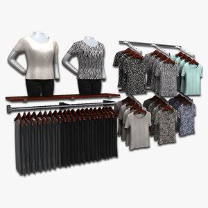 women blouses 3d 3ds