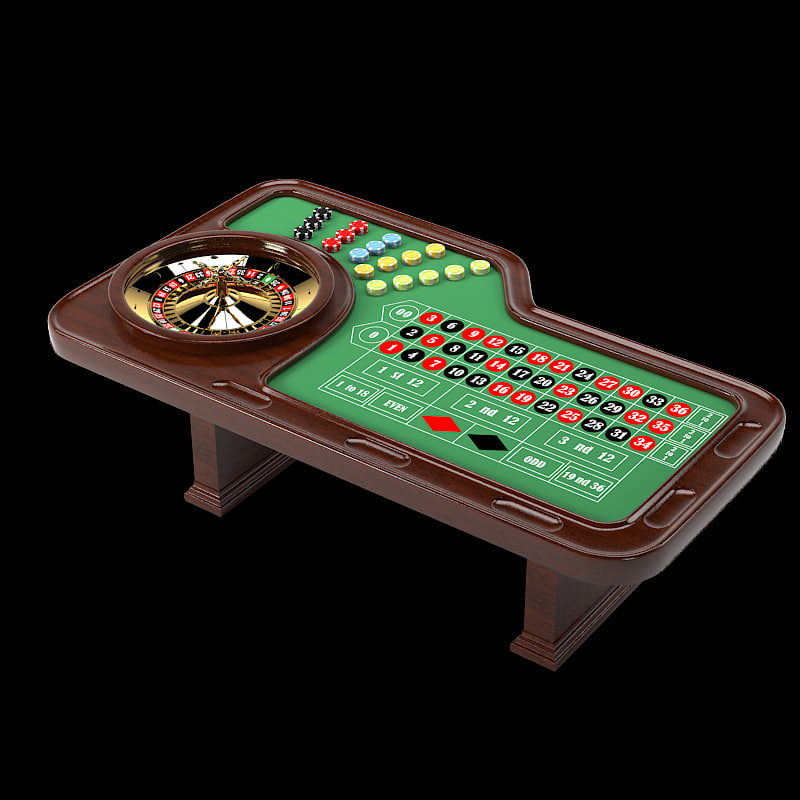 3d model of roulette table