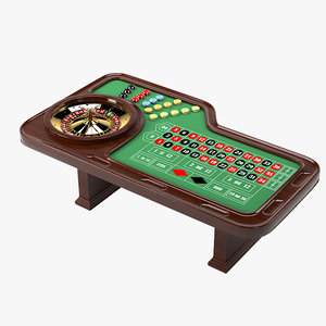 3d model of roulette table