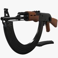 3d model ak 47 ak-47