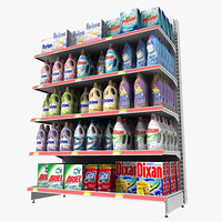 3d model detergents shelf