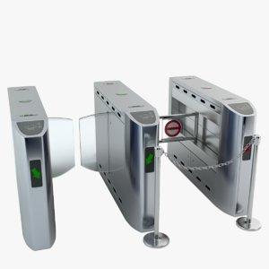 3d model intelligent flap gate