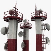 3ds max airport tower radar
