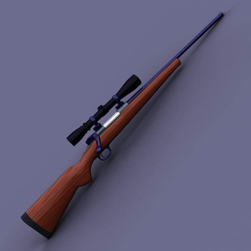243 deer rifle scope 3d model