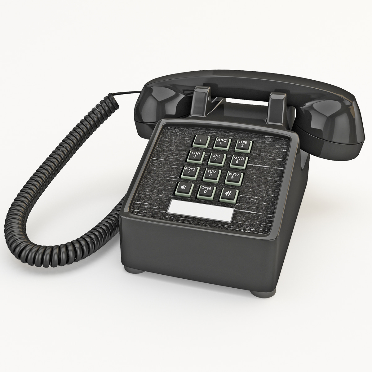 3d 3ds traditional retro corded phone