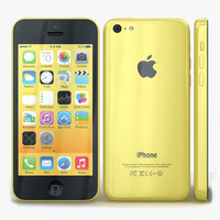 3d apple iphone 5c yellow