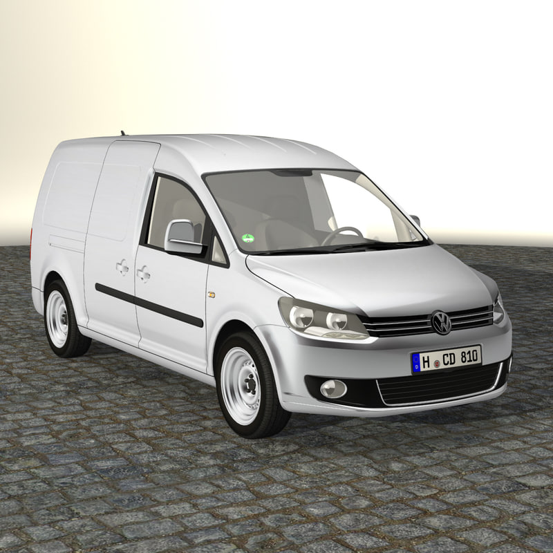 3d model caddy maxi delivery van. Black Bedroom Furniture Sets. Home Design Ideas