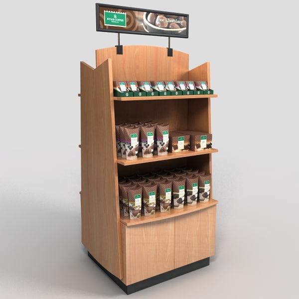3d chocolate display rack